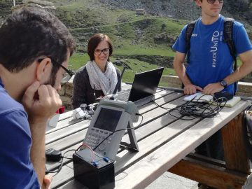 THE4BEES: first LoRa test at the Alpine Hut Selleries