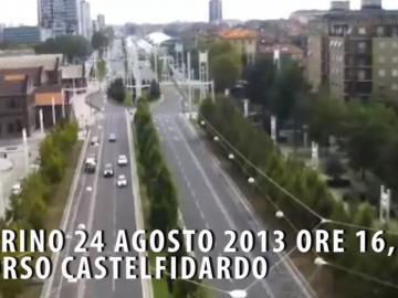 Torino, la forza della natura dal punto di vista di una webcam