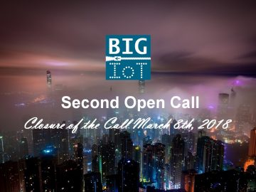 E' attiva la Seconda Open Call del progetto BIG IoT